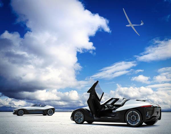 A BladeGlider koncepcióját két légies kép inspirálta: a csendesen szárnyaló vitorlázó repülőgépek panorámát adó szabadsága és a nagy teljesítményű, deltaszárnyú repülőgépek háromszög alakja