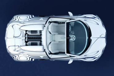 Bugatti Veyron Grand Sport L'Or Blanc: Porcelán-autó