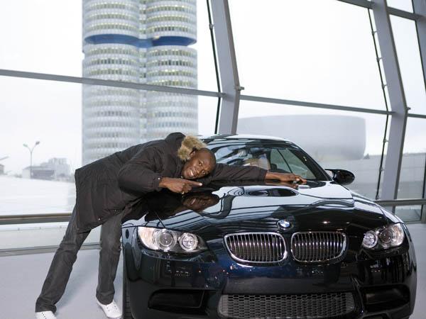 Usian Bolt és az Ő M3-as BMW-je