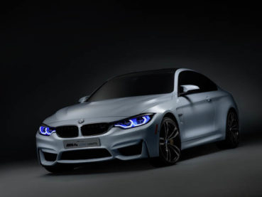 BMW M4 Concept Iconic Lights: Lézershow